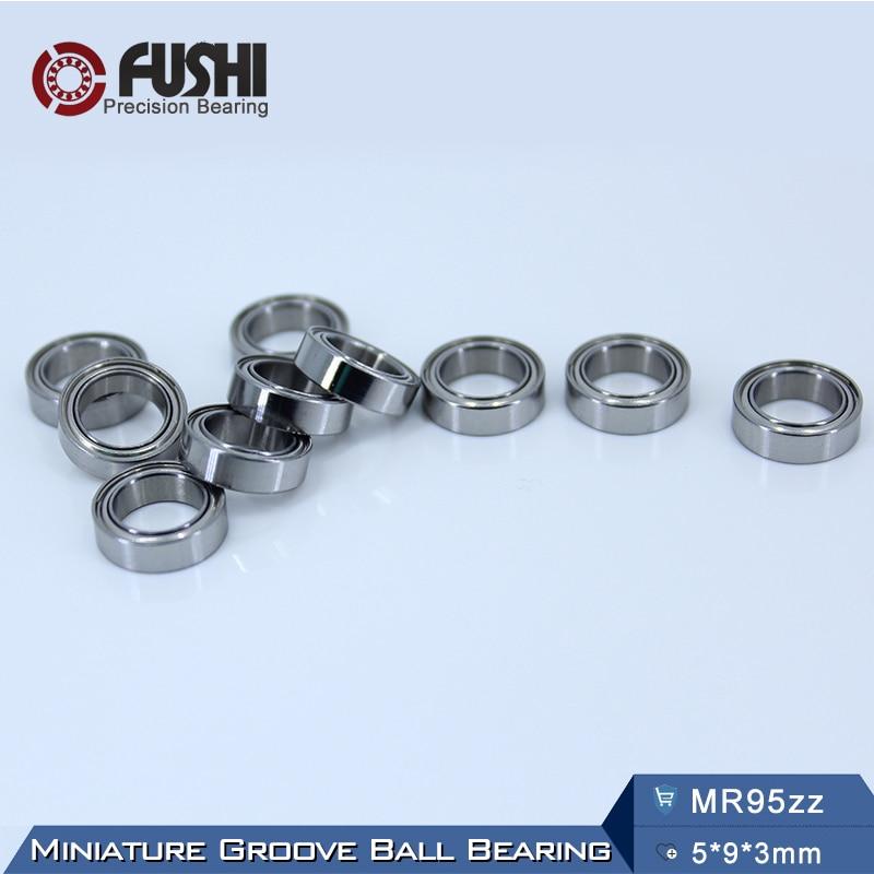 MR95ZZ Bearing ABEC-5 (10PCS) 5*9*3 mm Miniature MR95Z Ball Bearings MR95 ZZ L-950ZZ 1pcs 71901 71901cd p4 7901 12x24x6 mochu thin walled miniature angular contact bearings speed spindle bearings cnc abec 7
