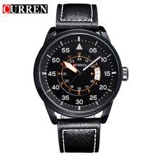 Curren marque de luxe montre à quartz Occasionnel De Mode En Cuir montres reloj masculino hommes montre livraison gratuite Montres de Sport 8210