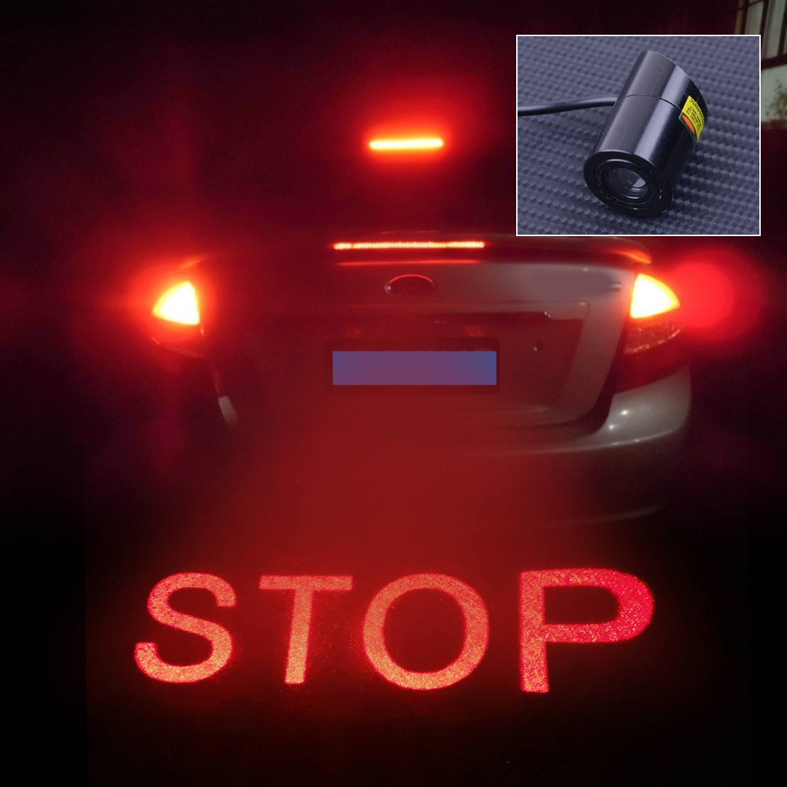 DWCX Car 8V-36V STOP LED Light Tail Warning Brake Lamp Caution Projector Anti-Collision Accessories