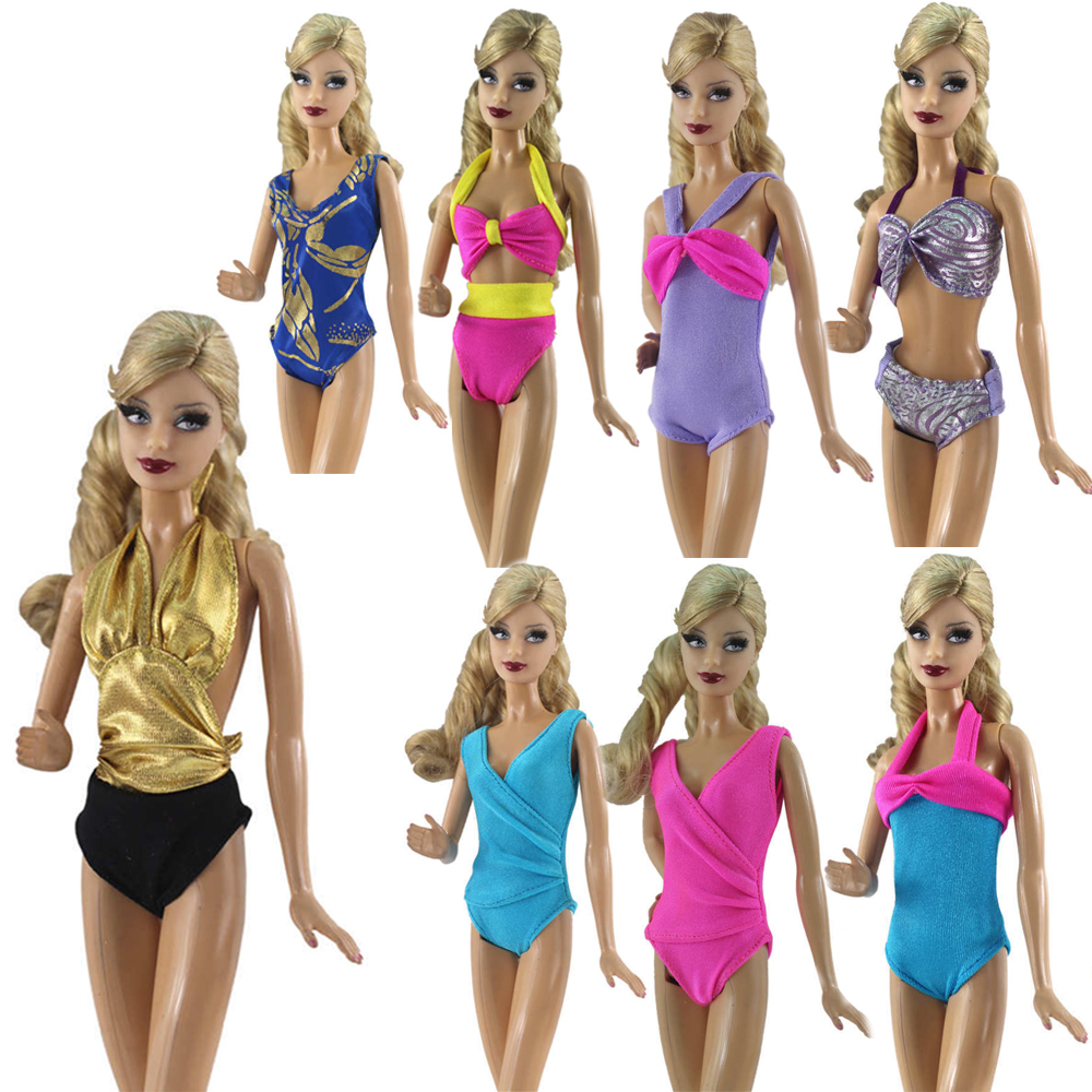 NK One Set Swimwear Bathing Swimsuit Slippers Swimming Buoy Lifebelt Ring For Barbie Doll Accessories Best Girl' Gift 6X JJ image
