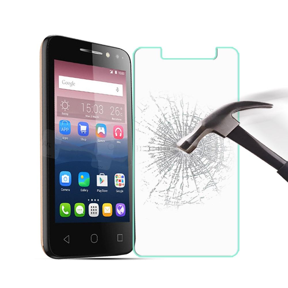Закаленное Стекло для Alcatel Pixi 4 (4.0) OT4034 Экран протектор Защитная Плёнки для Alcate OT4034 Стекло Плёнки обложка + чистке Наборы