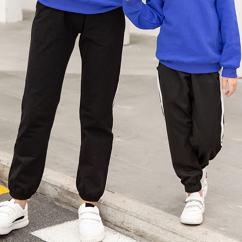 Family Matching Clothes Pants Mother and Daughter Trousers 2019 new spring autumn Elastic Sweatpants Pants father son outfits 4