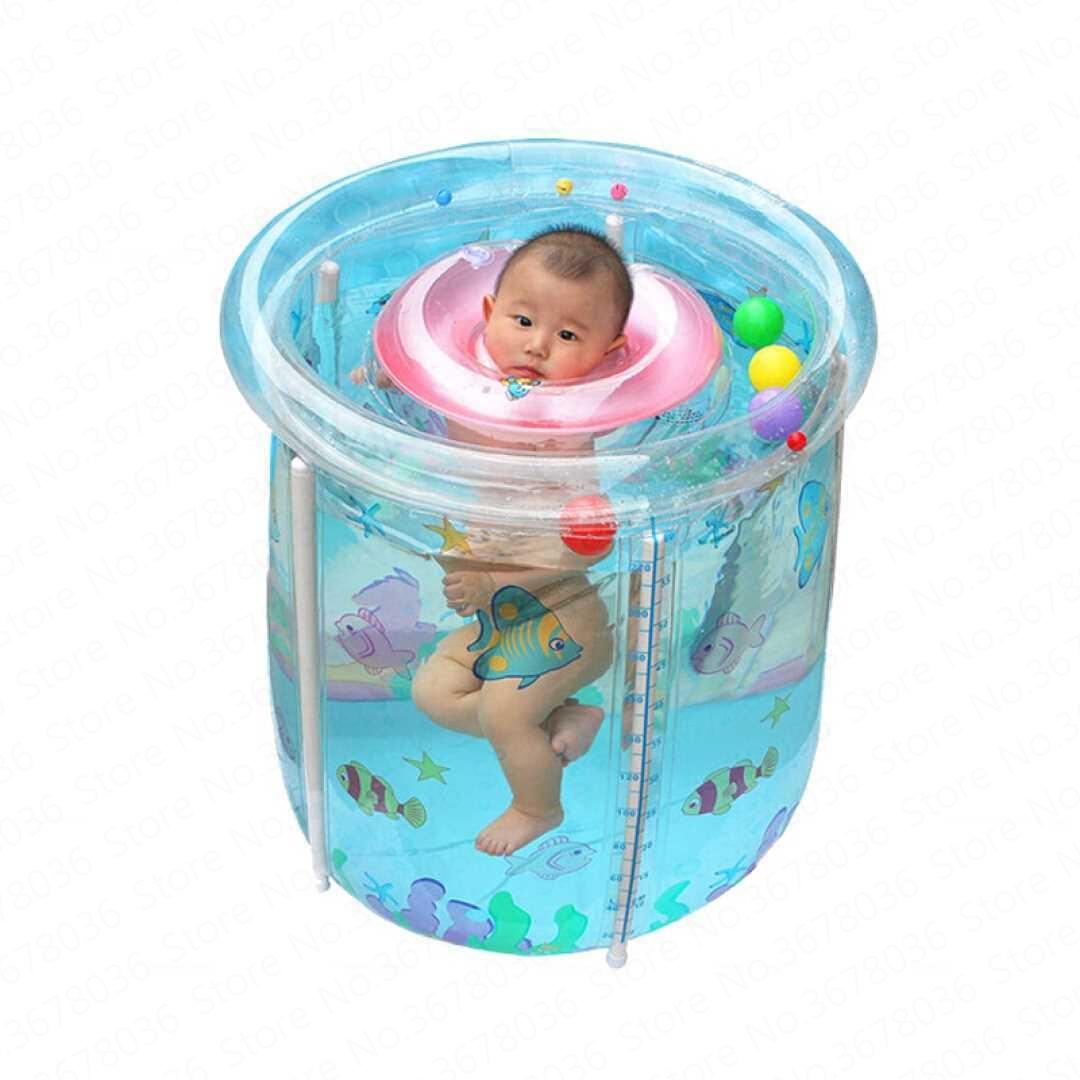 Bébé piscine maison Transparent gonflable seau jeunes enfants enfants baignoire épaisse isolation enfants plissable Alberca