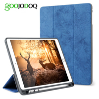For IPad Pro 10 5 Case With Pencil Holder GOOJODOQ Slim Full Body Protective Shockproof Smart