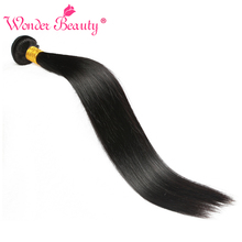 Wonder Beauty Malaysia Straight Remy Hair 100% Human Hair Extension 8-26 Inches Hair Bundles Natural black Color Free shipping