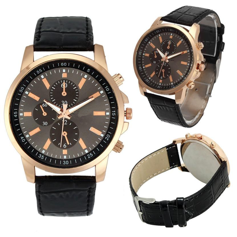 BAOLANDE2016 Women Men Wrist Watches Casual Geneva Faux Leather Quartz Analog reloj hombre kol saati Good-looking JUN 22 голень сидя bronze gym h 029