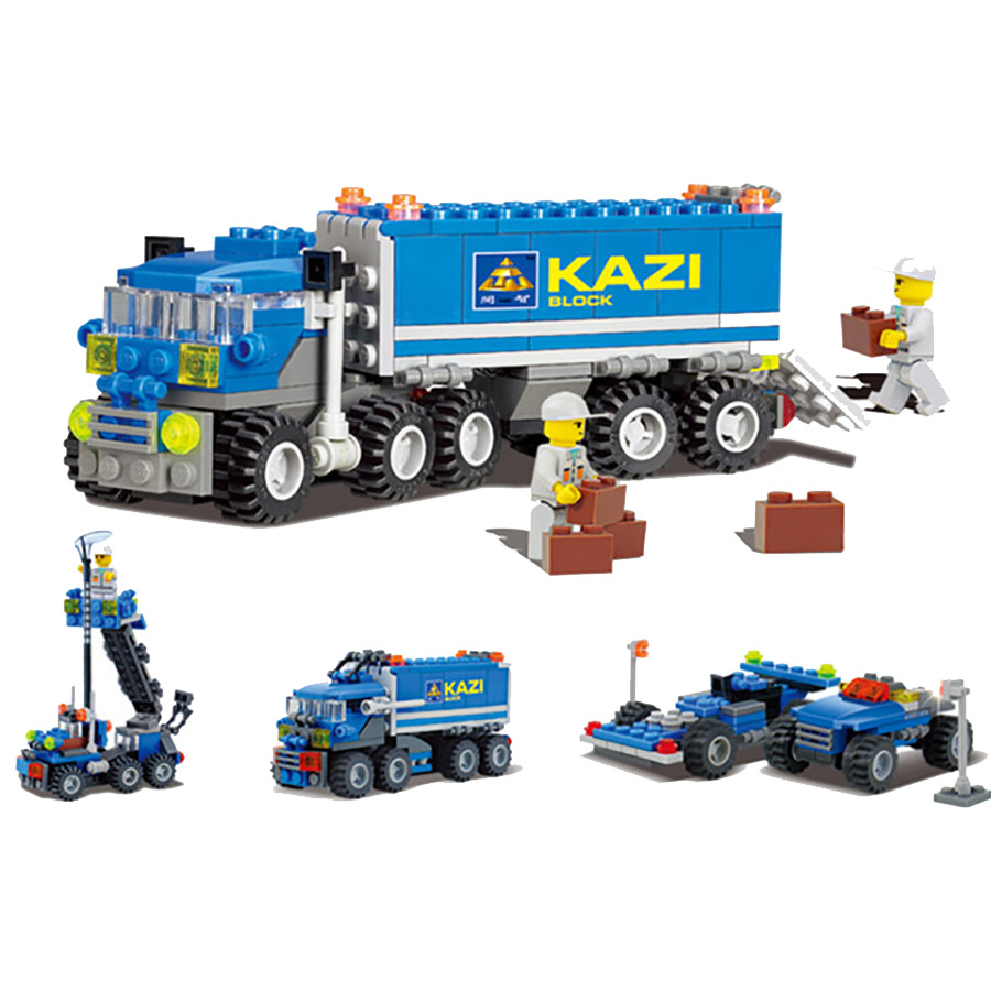 163PCS Construction Truck Building Block baby Toys For Children Birthday Gift Compatible Legos City Building Bricks Toy Tor Kids 2017 enlighten city series garbage truck car building block sets bricks toys gift for children compatible with lepin