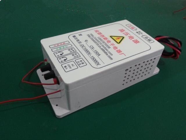 3kv ~ 15 kv high-voltage electrostatic generator air purifier power 100 w 500w fume purifier high voltage power supply