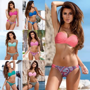 TQSKK New Push Up Brazillian Bikinis Set Swimwear Women Swimsuit 2019 Plus Size Female Beach Swim Bathing Suits Bandage Biquini