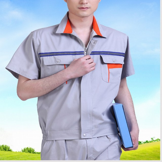 Short-sleeve work wear set summer work wear short-sleeve welding service reflective work wear