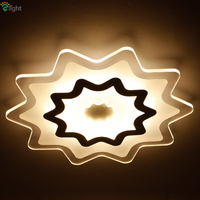 2016 New Design Ultra-thin PMMA Star Led Ceiling Lamp Dimmable By Remote Controller Foyer Restaurant Deco Lustre Led Lighting