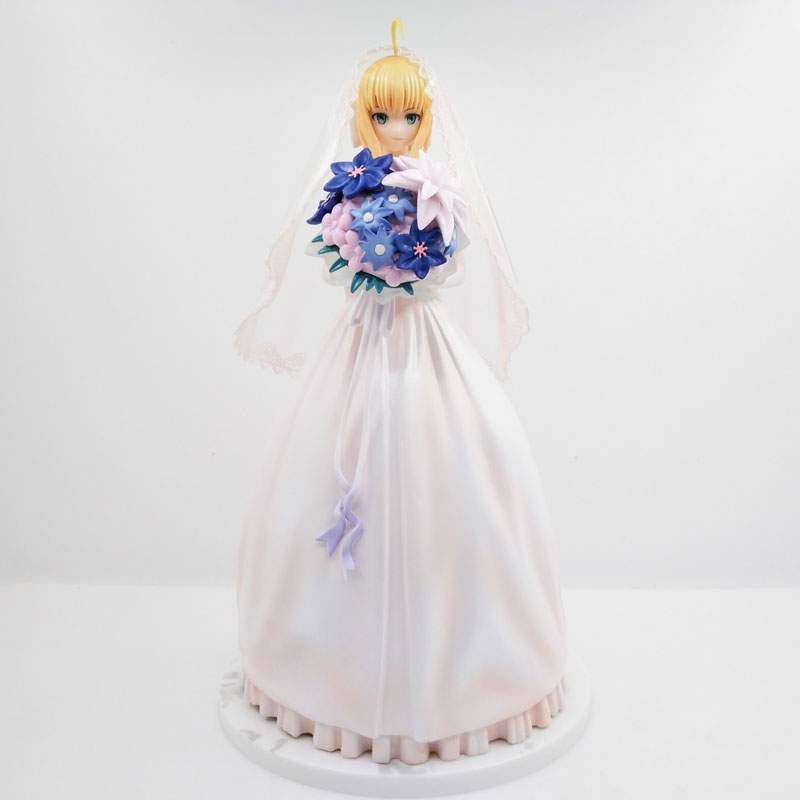 9 Fate Stay Night Anime Saber Lily 10th Anniversary Wedding Royal Dress Ver. Boxed 23cm PVC Action Figure Model Doll Toys Gift le fate топ