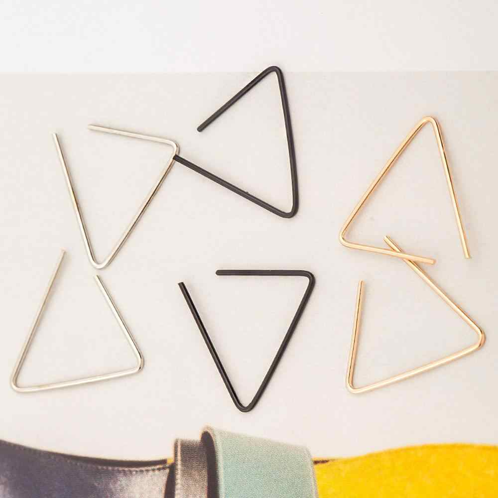 New Fashion Tiny Geometric Line Triangle Silver Earrings for Women Simple Cute Party Stud Earring