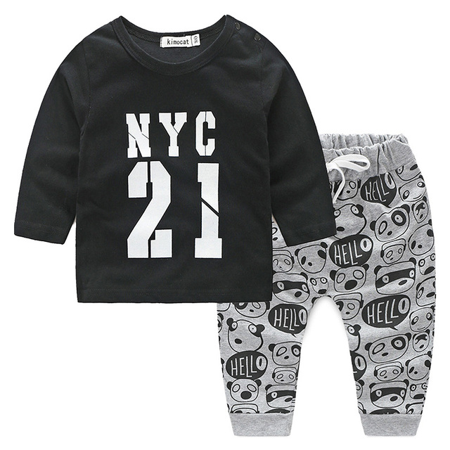 32b71b11e1a4 Newborn Baby Boy 2pcs Outfits Clothes Baby Boy Letters Printed Funky  Clothes Set Summer 2 Piece Top Pants Set BA-62T007