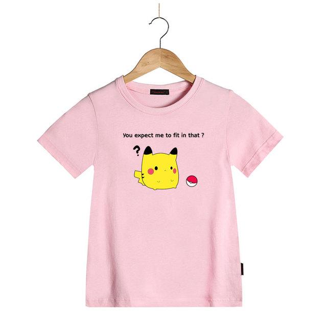 Mignon Drôle Pikachu Bande Dessinée Drôle Imprimé Enfants T Shirt Casual Tops Manches Courtes pour Enfants Garçons Filles D'été T-shirt