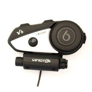 Image 4 - Angielska wersja zestaw słuchawkowy Bluetooth do kasku motocykl Vimoto V6 wielofunkcyjne słuchawki Stereo do telefonów komórkowych i radiotelefonów GPS