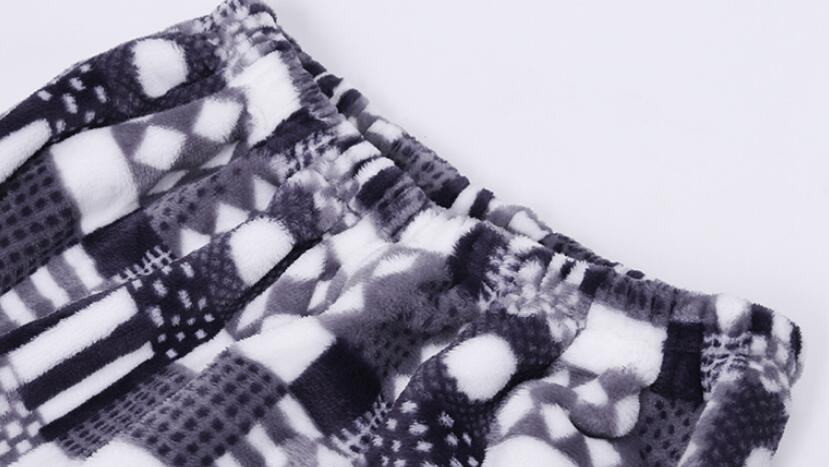 2019 New Winter Pajamas Warm Men Thick Flannel Pajama Sets Luxury Warm Sleepwear Pattern Suits Man Casual Home Clothes Pijama - 5