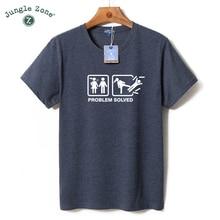 JUNGLE ZONE plus size O-Neck short-sleeved funny t-shirt personality Single dog t shirt design mens t shirts 2017 NEW TA042