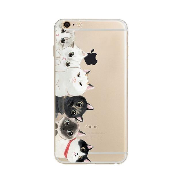 Cat Design Phone Case iphone 5 5s SE 6 6s Plus 6Plus