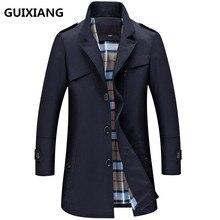 Гуйсян 2017 Весна и осень Новый стиль Мужская деловая Повседневная плащ куртки мужские Высокое качество отдыха ветровки(China (Mainland))
