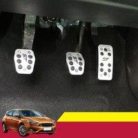 Aleación de aluminio de Coches Ccelerator Pedal Pedales De Freno de Embrague Para Ford Focus 2 MK2 3 4 Kuga Escape ST 2005-2012 2013 2014 2015 2016