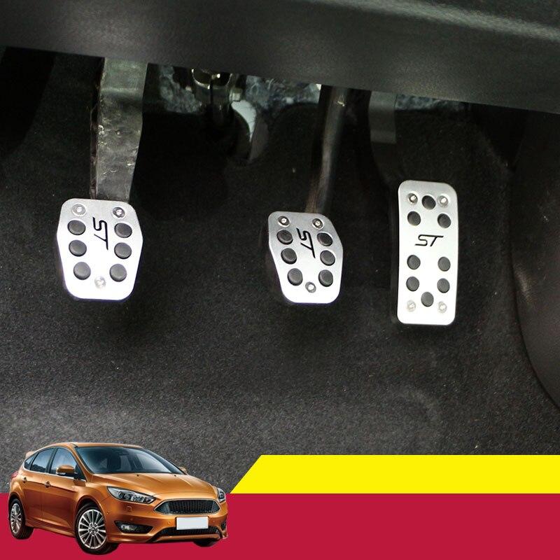 En Alliage d'aluminium De Voiture Ccelerator Pédale De Frein Pédales D'embrayage Pour Ford Focus 2 MK2 3 4 Kuga Évasion ST 2005-2012 2013 2014 2015 2016