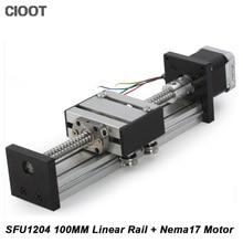 Линейный этап путешествия Длина 100 мм линейный слайд стол SFU1204 + Neme17 шаговый двигатель для ЧПУ