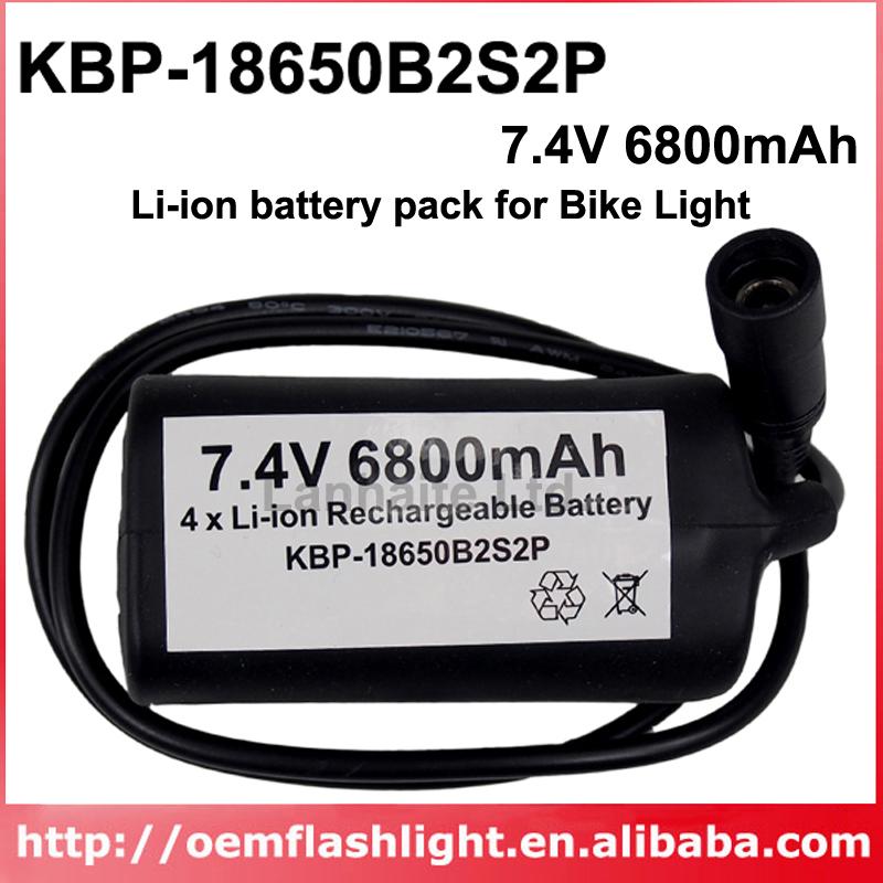 High Quality KBP-18650B2S2P 7.4V 6800mAh 4 x NCR18650B Rechargeable 18650 Li-ion Battery Pack