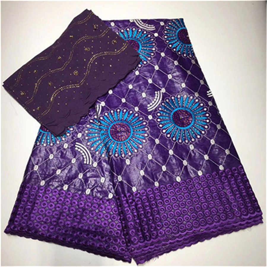 Африканская ткань tissu Базен riche getzner с камнями хлопковый Базен brode getzner красный нигерийский кружевной ткани 5 + 2 ярдов/партия LD-14