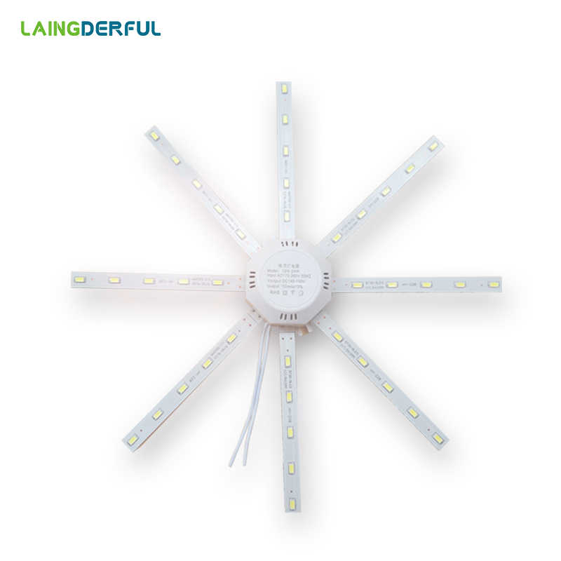 LED Celling lamp Tube Energy Saving Lamp Bright White 5730 LED board Octopus Lights Replace Celling light source cool white 24w