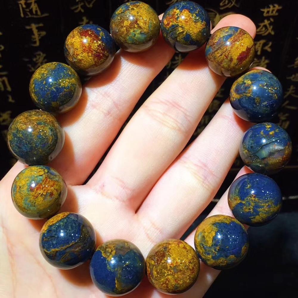 2018 New arrival Value Natural Rare Pietersite Stone 16mm Bracelet for Men and Women's Bracelet High Quality