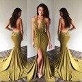 Sexy backless prom vestidos longos sereia vestidos de baile 2017 new style halter lace apliques chiffon evening party dress