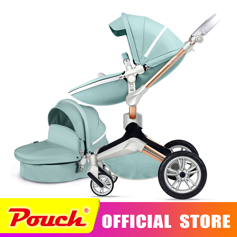 Hot mother 2018 new stroller high landscape can sit or lie on pneumatic wheel portable baby carts High end baby stroller aoxin new children s karting four wheel exercise can sit baby pneumatic tires exercise bike