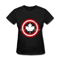 Fashion Brand Women S T Shirts Short Sleeve Leaf T Shirt Online Canada Flag Women Tee