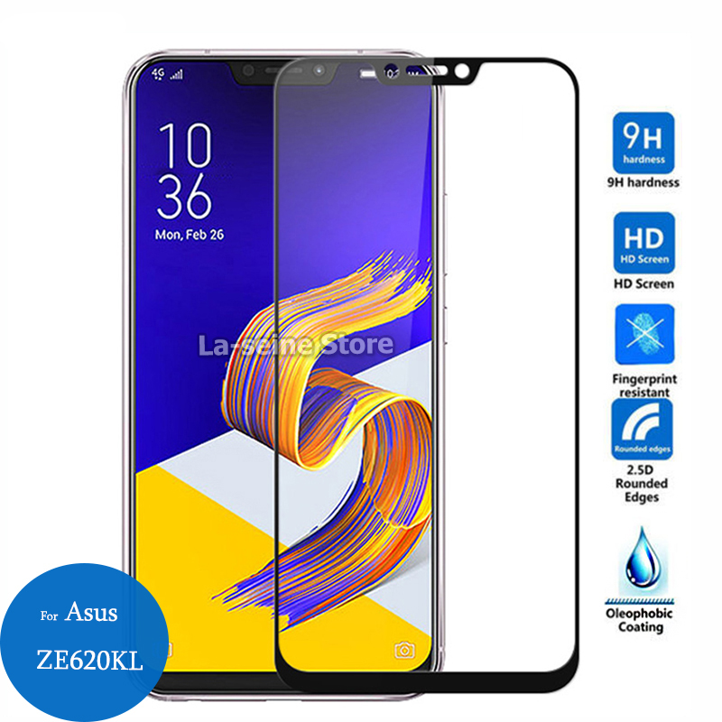 For <font><b>Asus</b></font> <font><b>Zenfone</b></font> 5 <font><b>ZE620KL</b></font> Full Cover Tempered Glass 9h 3D Screen Protector Protective Film on ZS620KL ZE620 620 KL 6.2-inch image