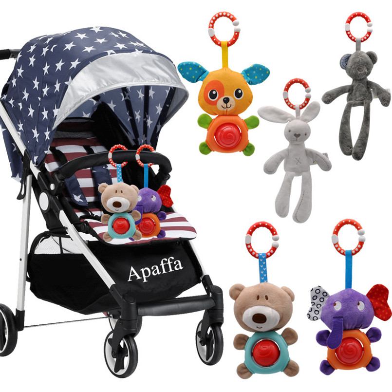 Baby Boy Toys Crib Mobile Bed Hanging Infant Baby Toys 0-12 Months Cloth Rattle Appease Bed Bell Animal Plush Toy For Stroller