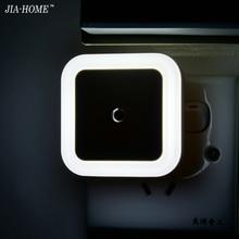Sensor Control LED night light mini EU US Plug novelty square Bedroom lamp For Baby Gift Romantic Colorful Lights