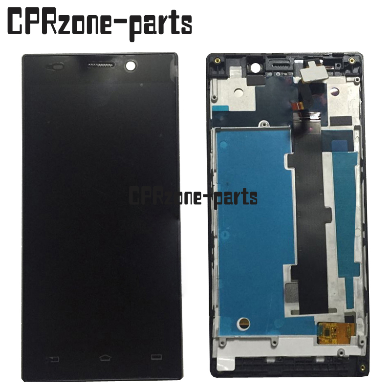 100% Garantie noir LCD Écran D'affichage avec écran tactile digitizer + cadre assemblée pour Philips Xenium V787 par Livraison Gratuite
