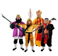 Древние китайские классическая история сценические костюмы XI youxi Обезьяна Король/Тан Сенг/SHA SENG ролевой игры для Для женщин /Для мужчин/Дети
