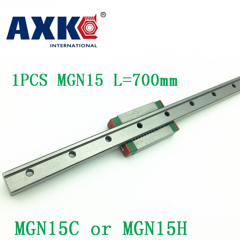 15mm Linear Guide MGN15 L=700mm linear rail way + MGN15C or MGN15H Long linear carriage for CNC X Y Z Axis 15mm linear guide mgn15 l 650mm linear rail way mgn15c or mgn15h long linear carriage for cnc x y z axis