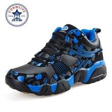 Анти-столкновения баскетбольной технологии напольные дышащие продвижение резиновые пвх обуви кроссовки мужской