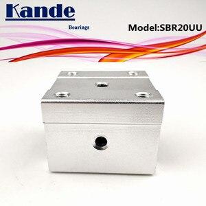 Image 4 - Kande محامل 4 قطعة SBR20UU SBR20 UU SBR20 مفتوحة تحمل كتلة أجزاء التصنيع باستخدام الحاسب الآلي الشريحة ل 20 مللي متر دليل خطي SBR20 20 مللي متر SME20UU SME SBR