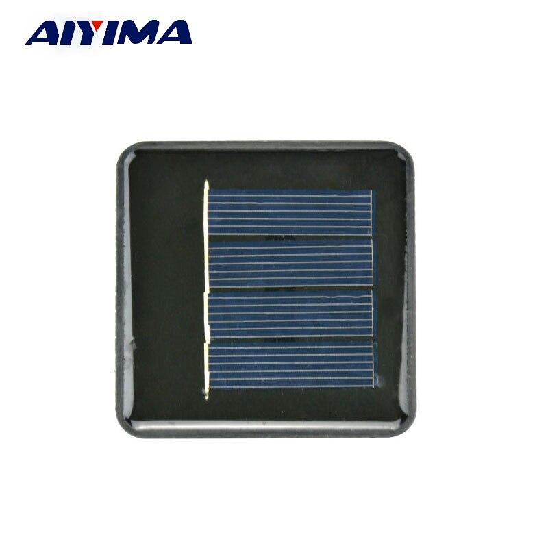 AIYIMA 5Pcs Solar Panels Polycrystalline Solar Panels 67*67MM 2V 100MA DIY Solar Battery Charger Painel Solars