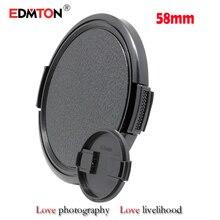 Wholesale 10pcs/lot 58mm Digital camera Lens Cap Safety Cowl Lens Entrance Cap for Sony Canon Nikon 58mm DSLR Lens