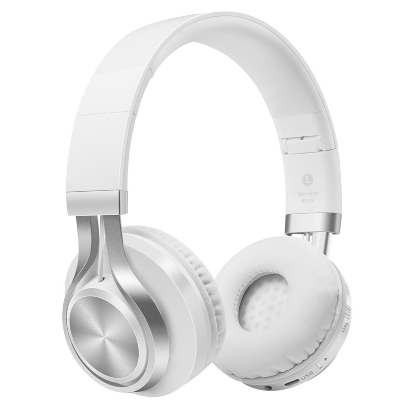 BT-06 HIFI Wireless Bluetooth Headphone TF Card Folded Subwoofer Headphone Stereo Noise Reduction Bluetooth Headphone FM Music