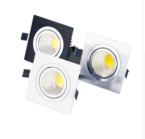 Free shipping 1pcs LED COB Downlight Dimmable ac110-240V 7W 9W 12W Recessed Led ceiling lamp Spot light Bulbs Indoor Lighting