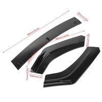 Pouvoir Black Front Bumper Lip Trim Grill Below Lips Cover Shovel For Honda Civic 2016