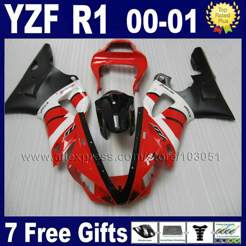 7gifts Injection molding fairing kits for 2000 2001 YZF 1000R YAMAHA YZF R1 00 01 YZFR1 YZF1000 ABS Plastic body repair Fairings fzr250r 1986 fairing for yamaha fzr250 full body kits 1987 fzr 250 1988 abs fairing 1986 1989 circular butterfly lamp