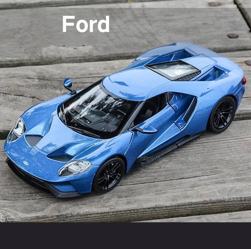 все цены на 1:24 FORD GT advanced alloy car toy,High simulation diecast metal model toy vehicle,Precious collection model free shipping онлайн