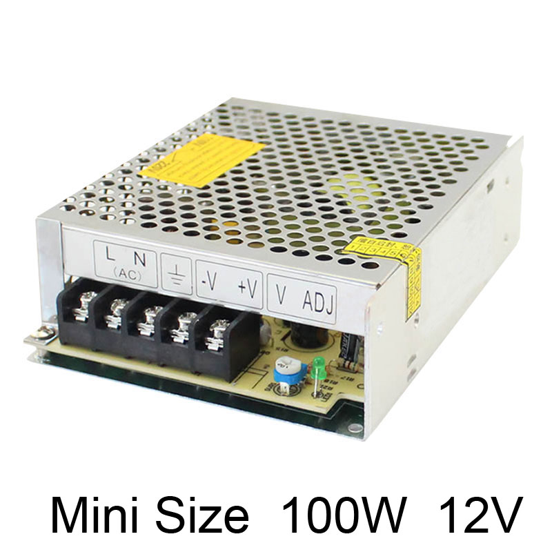 MS-100-12 10W 12V 5A universal AC UPS/Charge function monitor switching power supply 13.8v, battery charger 2 year warranty купить
